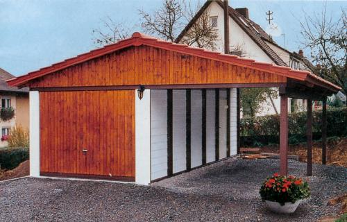 carport fertiggarage kombination mit satteldach. Black Bedroom Furniture Sets. Home Design Ideas